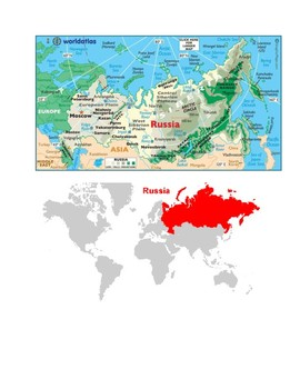 Russia Map Scavenger Hunt