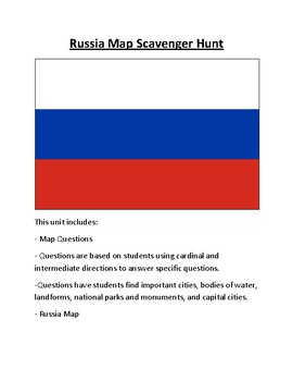 Russia Map Scavenger Hunt