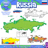 Russia Maps: Clip Art Maps of Russia