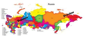 Russia Maps: Clip Art Maps of Russia