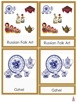 Russia Montessori 3-part cards + definition cards
