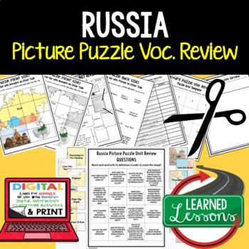 Russia Picture Puzzle, Test Prep, Unit Review, Study Guide