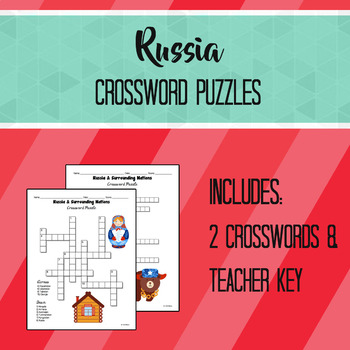 Russia & Surrounding Nations Crossword Puzzles