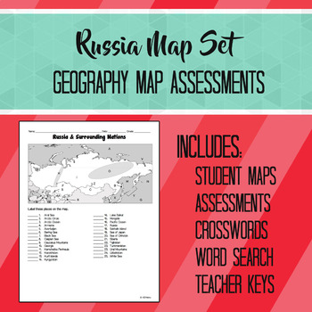 Russia & Surrounding Nations Map Set
