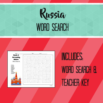 Russia & Surrounding Nations Word Search