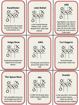 Russia Tic Tac Trivia Game