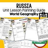 Russia Lesson Plan Guide for World Geography Back To School
