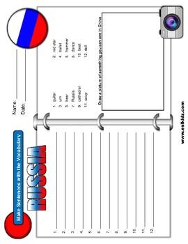 Russia Vocabulary Identify Activity