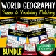 Russia Vocabulary Puzzle (Print and Digital), Russia Activity