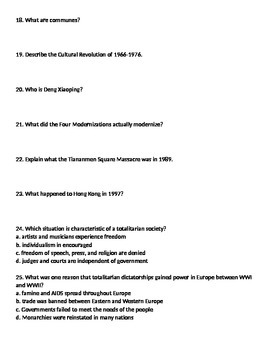 Global 2: Russia Worksheet