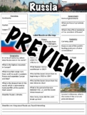 Russia Worksheet