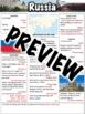 Russia Worksheet