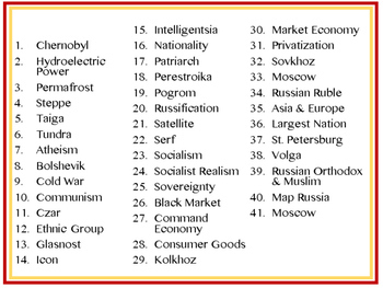 Russia and Eurasia Word Wall Pennants (World Geography)