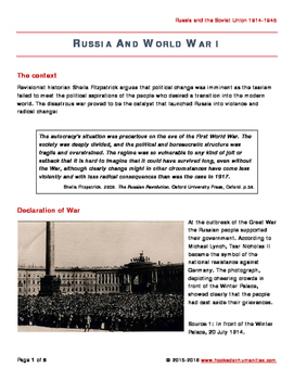 Russia and World War 1
