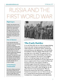 Russia and the First World War