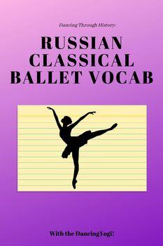 Russian Classical Ballet Vocab
