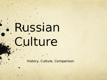 Russian Culture Powerpoint