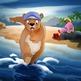 Russian / English Dual Language Book: Bosley Goes to the Beach