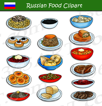 Russian Food Clipart by I 365 Art - Clipart 4 School | TpT