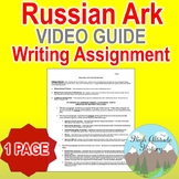 Russian Ark Movie Review Writing Assignment