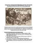 Russian History Notes and Test for Introduction to Animal Farm