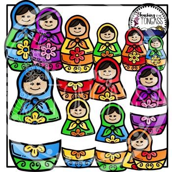 Russian Nesting Doll Clipart Bundle