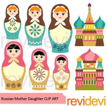 Russian Nesting Dolls clip art