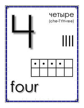Russian Number Posters 1-20
