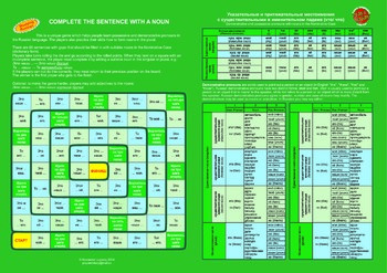 Russian Possessive and Demonstrative Pronouns Board Game
