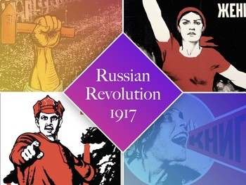 Russian Revolution 1917 - SHOW + FCs + TEST = 101 Slides Highly Visual - Russia