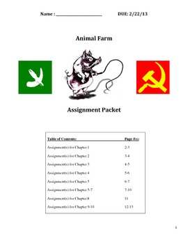 Russian Revolution - Animal Farm - Chapter Assignments and Essay