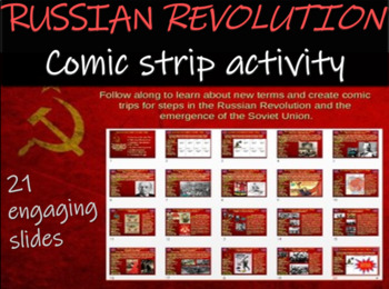 Russian Revolution Comic Strip Activity:  fun engaging inf