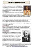Russian Revolution Common Core Reading Worksheet