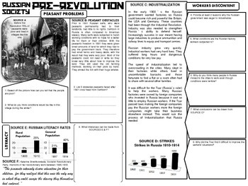 Russian Revolution DBQ by Captivating History Lessons by ...