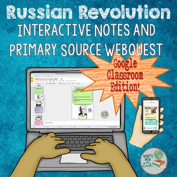 Russian Revolution Google Classroom or One Drive Interacti