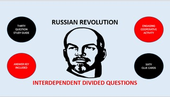 Russian Revolution: Interdependent Divided Questions Activity