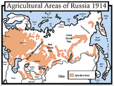 Russian Revolution Maps: Package with Answer Key: Students Color
