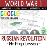 Russian Revolution, World War 1, World War I, WW1, WWI