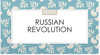 Russian Revolution Powerpoint