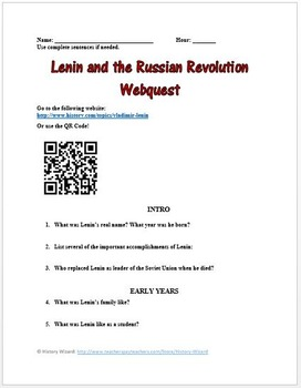 Russian Revolution Lesson Plan Collection