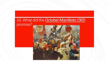 Russian Revolution Revision Quiz - pre-1917 Causes of Revolution