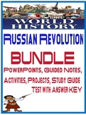 Russian Revolution Unit Bundle Powerpoints, Activities, Project
