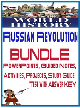 Russian Revolution Unit Bundle Powerpoints, Activities, Project