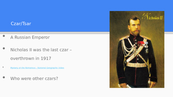 Russian Revolution Vocabulary Activity