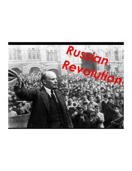 Russian Revolution Vocabulary Builder Part 1