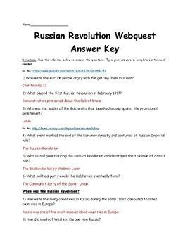 Russian Revolution Webquest   Distance Learning