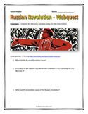 Russian Revolution - Webquest with Key (History.com)