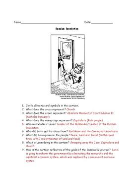 Russian Revolution Worksheet Packet Bundle