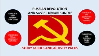 Russian Revolution and Soviet Union Bundle: Study Guides and Activity Packs