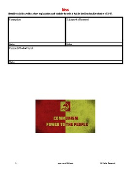 Russian Revolution of 1917 Webquest: Getting students ready for Animal Farm